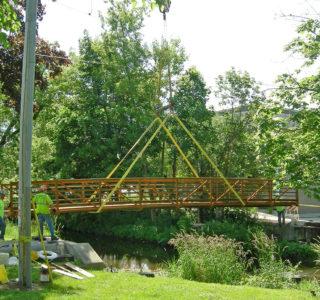 Hartland Pedestrian Bridge Construction