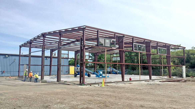 metal building construction framing